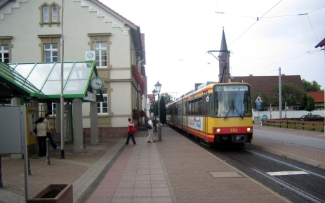 Haltestelle Linkenheim Rathaus