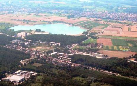 Luftbild von Rheinstetten-Forchheim und Epplesee